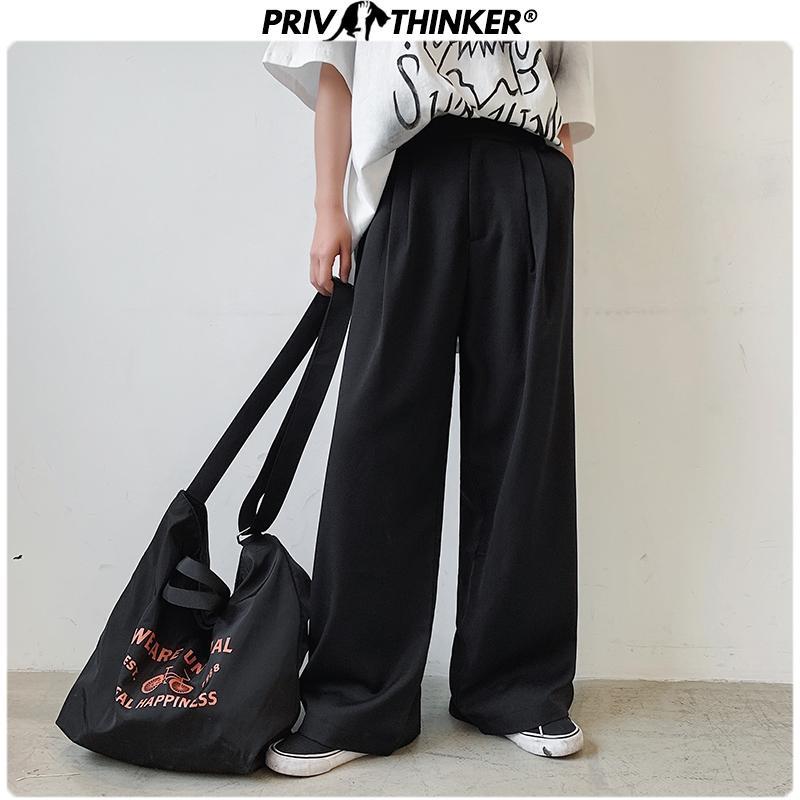 Hommes d'été solide Casual 2020 Pantalon large jambe Hommes femme lâche Jogger Bas Homme Fashions coréenne Oversize Toursers