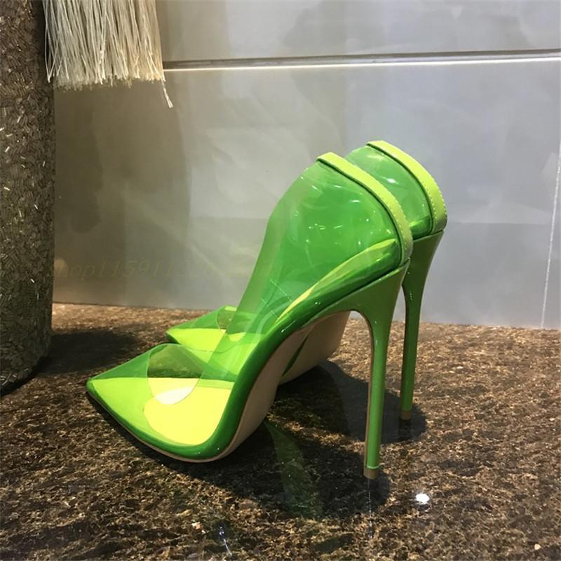 Горячая распродажа-бесплатная мода женщины насосы ню лакированная кожа ясно острым носом высокие каблуки жемчуг обувь совершенно новый с коробкой 12 см 10 см