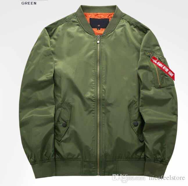 Erkek Yeşil Siyah Bombacı Ceketler Mont Kanye Hip-Hop Ceket Hoodie Bahar Ceket Giyim YYF0801