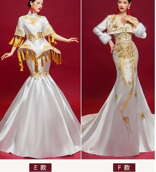 100% echte weiße Stickerei Meerjungfrau Kleid Krönung Drama Kleid mittelalterlichen Renaissance Königin viktorianischen Kleid 2 Stil für wählen