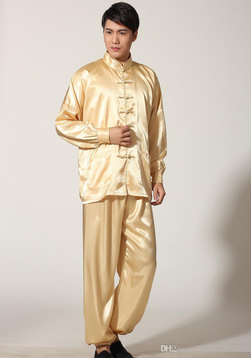 costume vêtement libre sentiment soie expédition Chine traditionnelle Tang matin exercice draps wushu adultes vêtements de tai chi