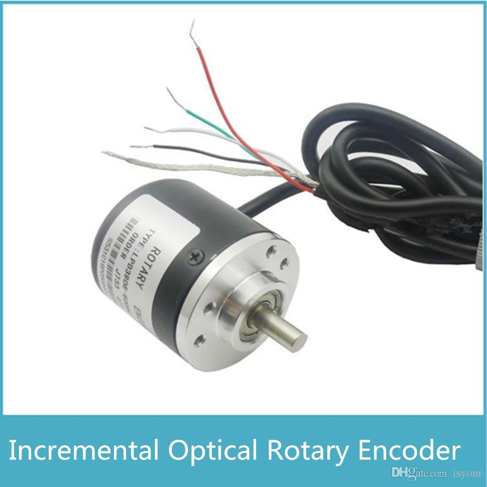Freeshipping New arrival AB Two Phase 5-24V 360 400 600CPR Pulses Incremental Optical Rotary Encoder