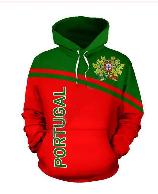 Mens Designer Hoodies für Frauen Männer Paare Sweatshirt Lovers 3D Portugal Flagge Hoodies Coats Hoodies Tees Kleidung RR047