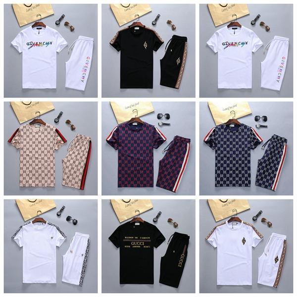 Hot nova moda Sportswear t-shorts atender carta 2020summer marca t-shirt dos homens t-shirt impressão de manga curta esportes dos homens S-02