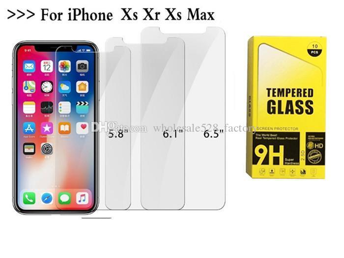 2.5D 9H Iphone12 XS Max XR x 8 8 플러스 삼성 S10 S11 S10Plus 필름 0.33mm 2.5D 9H 종이 패키지 용