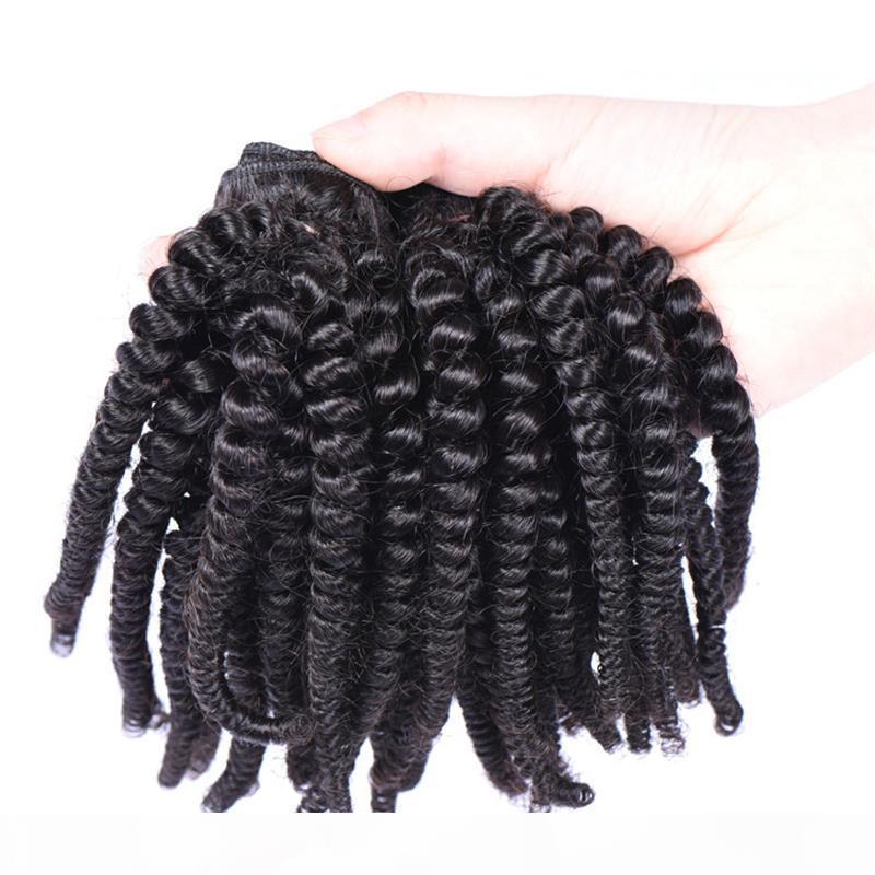 30inch brasiliana dei capelli umani tesse Aunty Funmi disegnata doppio Lordo Virgin estensioni dei capelli umani Funmi naturale dei capelli di colore nero