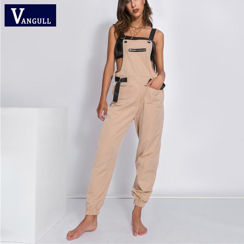Kadın Tulumlar Tulum Vanull Kapalı Omuz Tulum Kadınlar Uzun 2021 Moda İlkbahar Sonbahar Kadın Kayış Streetwear