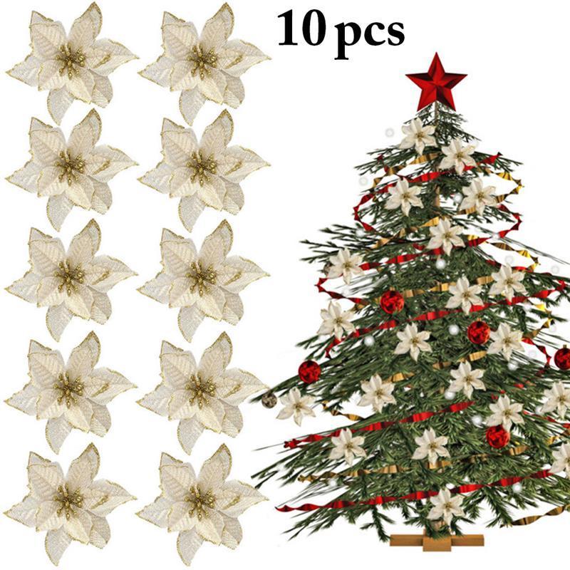2019 новое прибытие 10 шт. искусственные цветы рождественские украшения для дома Рождественская елка украшения Рождественская елка Новый год декор