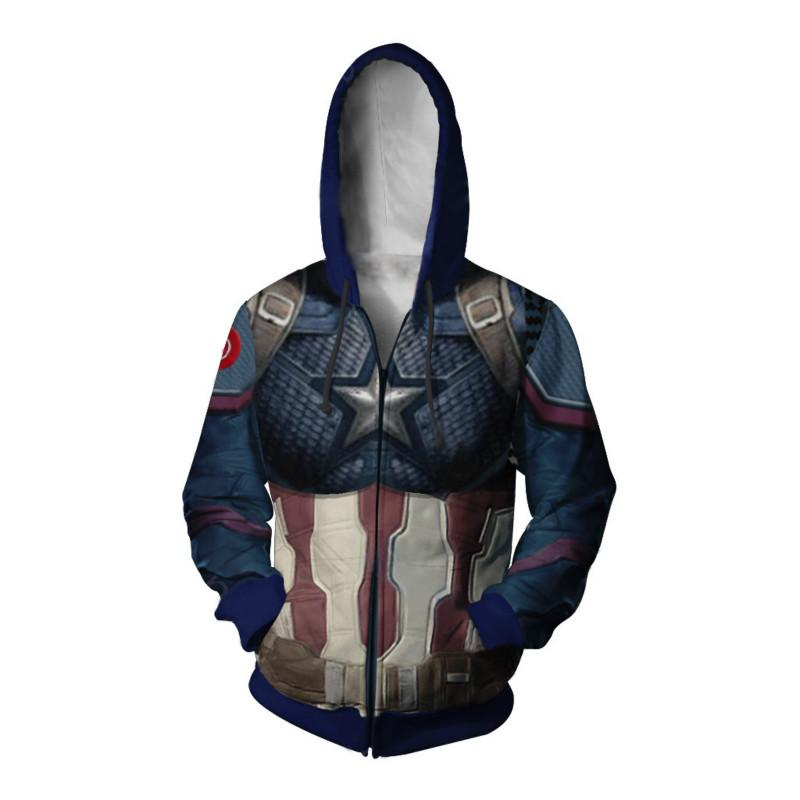 Marvel Avengers 4 Endgame America Captain Thanos Coat Quantum Realm Tops Anime 3D Sweater Cosplay Sweater