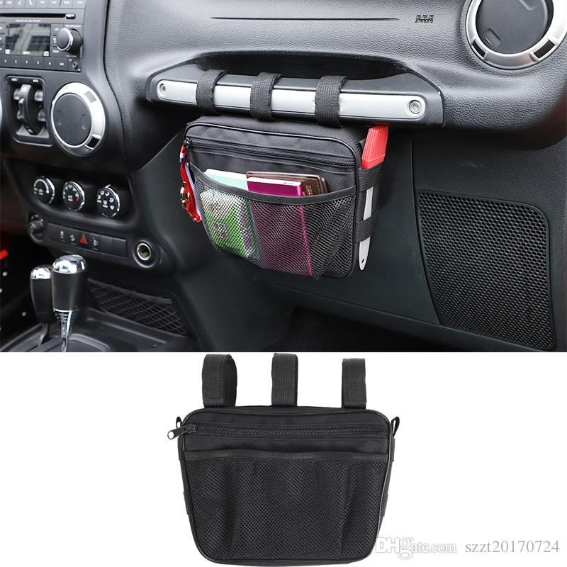 Black Co-pilot Grab Hands Tool Storage Organizer Bag For Jeep Rangler TJ JK JL, Jeep Rongidade, Suzuki Jimny 2019+