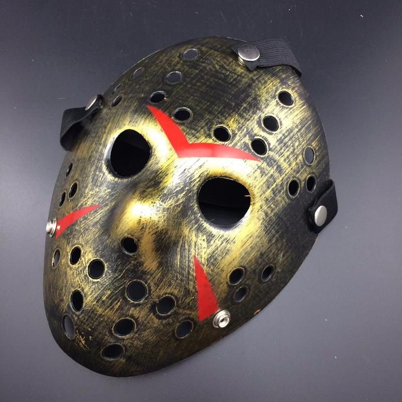 2019 Hot Sale Halloween Jason Voorhees Mask Hockey Festival Party Masquerade Mask Vintage Silver Color New Make Old Cosplay