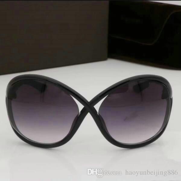 Top Quality New Fashion Tom Matt Sunglasses 0394 Brand Woman Erika 51 Designer Eyewear Ford Glasses Leopard Lenses Gradient Sun 0392 Ma Bljr