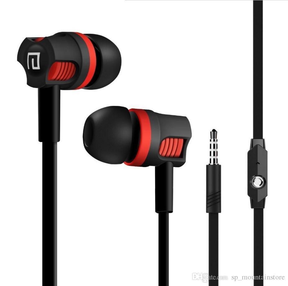 귀에 이어폰에 마이크가있는 JM26 이어폰 헤드폰 스테레오 HIFI 헤드셋 전화 Auriculare Fone de Ouvido Dropshipping (소매)