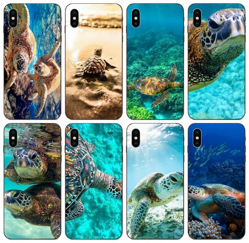 11 Pro 8 7 6s 5s 6p 5p X XS Max Galaxy A20 A20E A20S Huawei Y9 Primo caso di Motorola [TongTrade] tartarughe marine per l'iPhone Moto G6 personalizzato