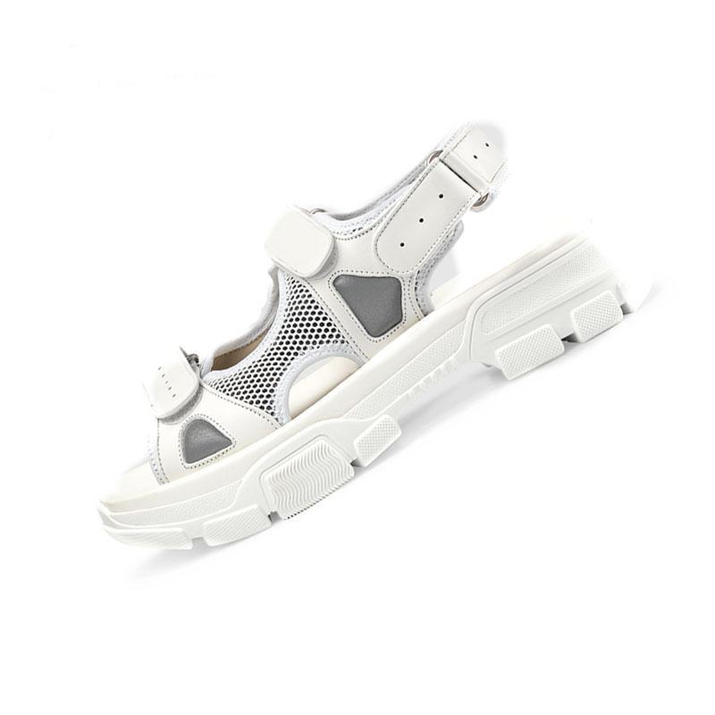 2020 Designer vernietet Sport Sandalen Diamant Marke männliche und Freizeit Frauen Sandalen Mode Leder Outdoor-Beach-Mann-Frauenschuhe