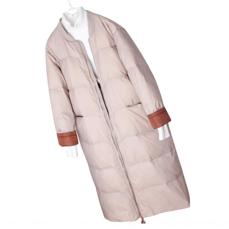 ZYory 9031T Baseball chaud jacketDown veste jacketjacket hiver femmes Nouveau minceur lâche célébrité Internet coréenne sur le genou style long