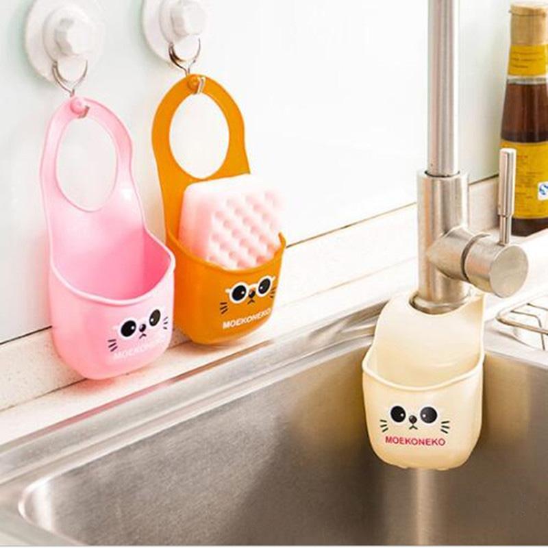 Yeni Yaratıcı Depolama Raf Sepet Yıkama Bezi / Tuvalet Sabunu Tutucu Saklama Çantası Mutfak Alet Aksesuarları Ürünleri