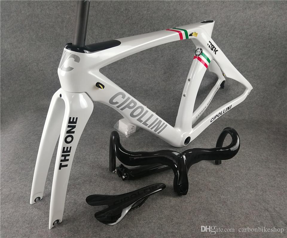 T1000 3 K Parlak İtalyan Şampiyonu RB1K BIR karbon yol çerçeveleri satılık Cipollini karbon Gidon Eyer paketlenmiş ücretsiz kargo