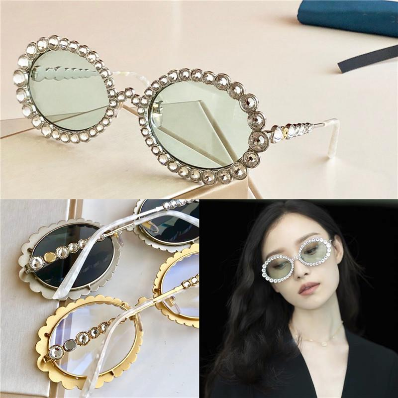 Women Luxury Designer Sunglasses 0620 Inlaid With Sparkling Crystal Diamond Small Oval Frame Top Quality Uv400 Glasses Fashion Sunglasses Cycling Sunglasses Running Sunglasses From Zzq6757 48 74 Dhgate Com
