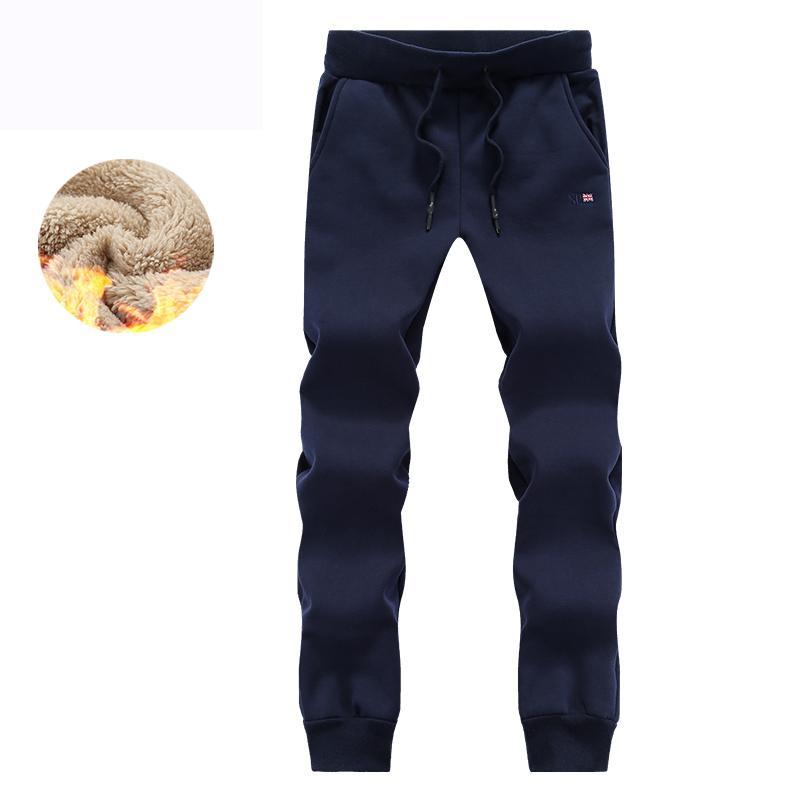 Quente de inverno calças dos homens Thicken dos homens do velo Sweatpants Casual Faux Fur Jogger Hombre Homens Hip Hop Heavyweight Velvet Calças 5XL