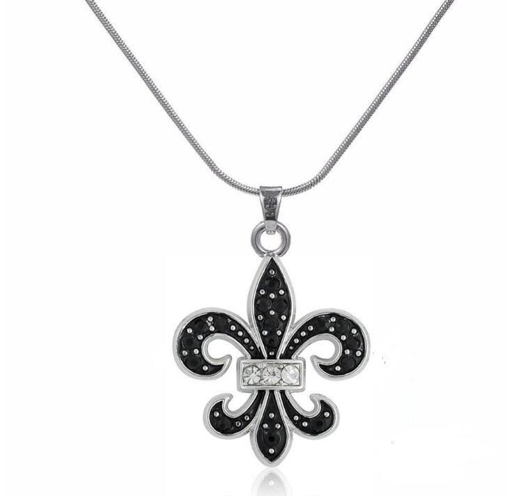 GX041 Мода Новый Простой Дизайн Черная Эмаль Кристалл Шарм Ожерелье Лучший Подарок Ювелирных Изделий Huilin
