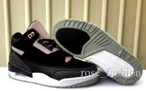 شيبمنت مجانا 3s Tinker Black Cement 3M أحذية كرة السلة العاكسة