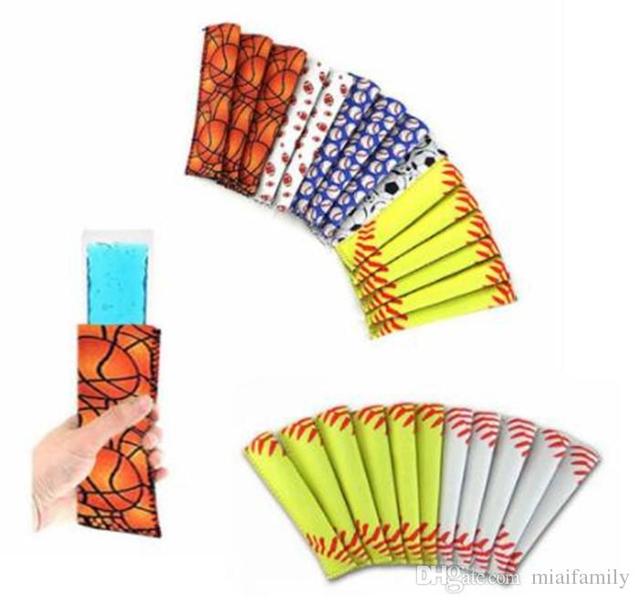 Manicotto da baseball Popsicle Pop Sleeves Ice Lolly Bag Summer Kids Ice Sleeves Freezers Popsicle Holders Summer