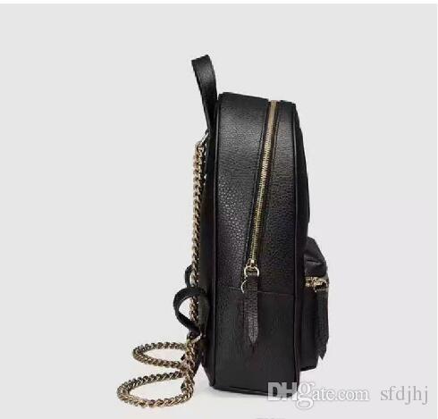 2019 새로운 탑 PU 유럽 여성 가방 유명 디자이너 핸드백 캔버스 배낭 여성의 학교 가방 배낭 스타일 배낭 브랜드 브라운 # G3357
