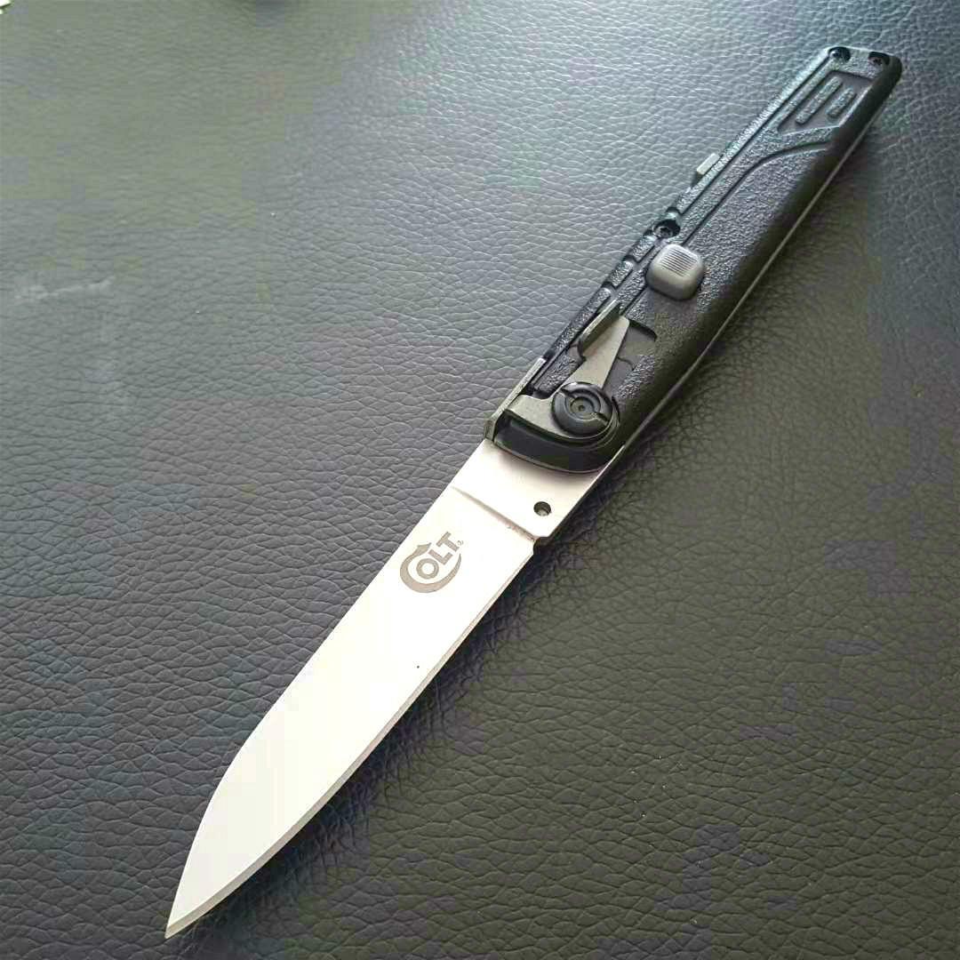 sola acción táctica de defensa personal plegable EDC del bolsillo de la supervivencia del cuchillo automático cuchillo que acampa cuchillos de caza regalo de Navidad Colt II Adkershaw PD00