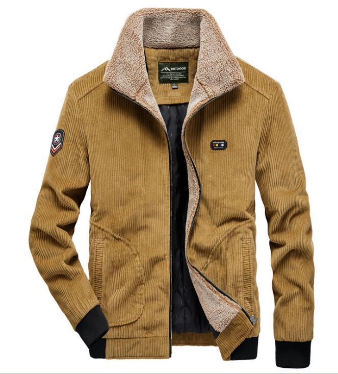 Inverno Primavera collare bavero di velluto giacche casual dimensioni grandi uomini, sciolti degli uomini più velluto cotone spesso giù il cotone GIACCA Coat Outerwear