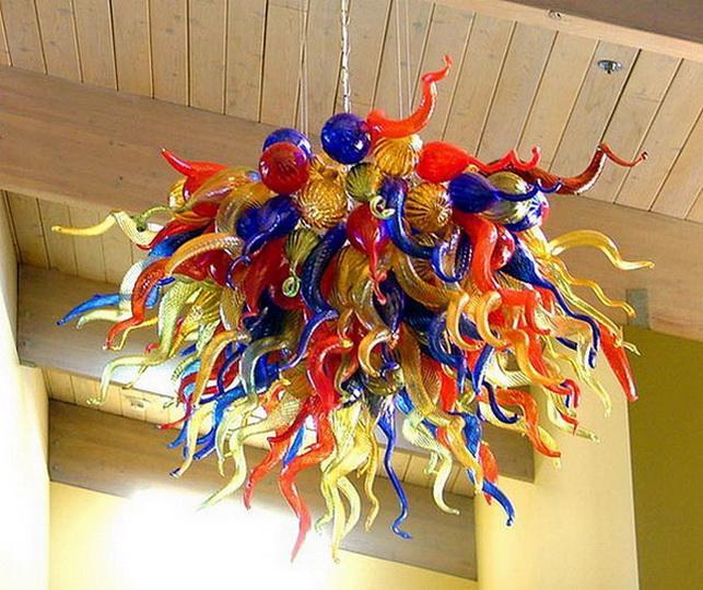 Home Decorative Blown Glass Pendant Beauty Color 110v-240v LED Novelty Lights Art Home Decor Light LED