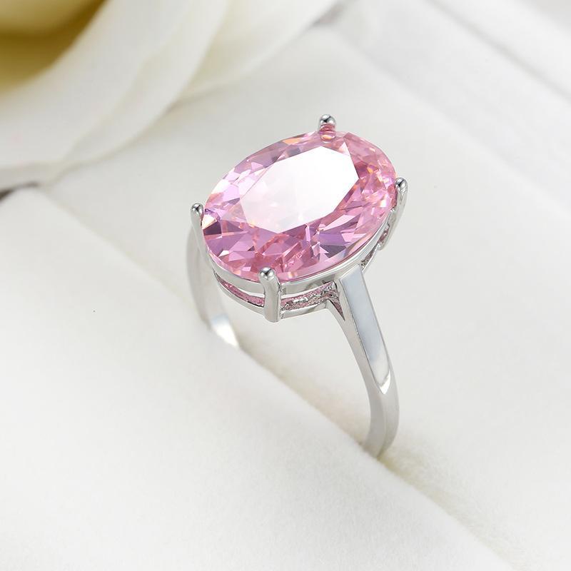 Обручальное кольцо моды Циркон кольцо Розовый Свадебные украшения для мужчин и женщин