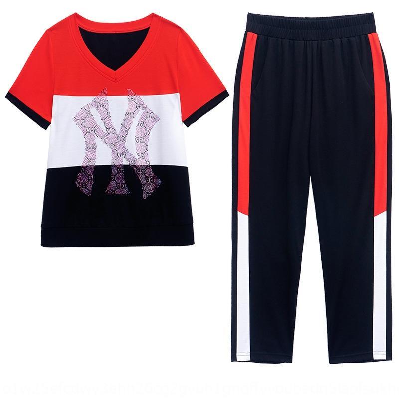 I7AfM sport sport petits vêtements pour femmes 20 été nouveau costume de style occidental mode de réduction de l'âge mince costume deux pièces