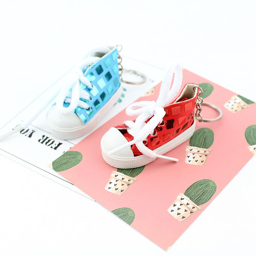 Free DHL 5 Styles Canvas Mini Sneaker Shoe Keychain Cute Keyring For Bag Wallet Phone Accessory Party Gifts Keyrings Keychains H487Q Y
