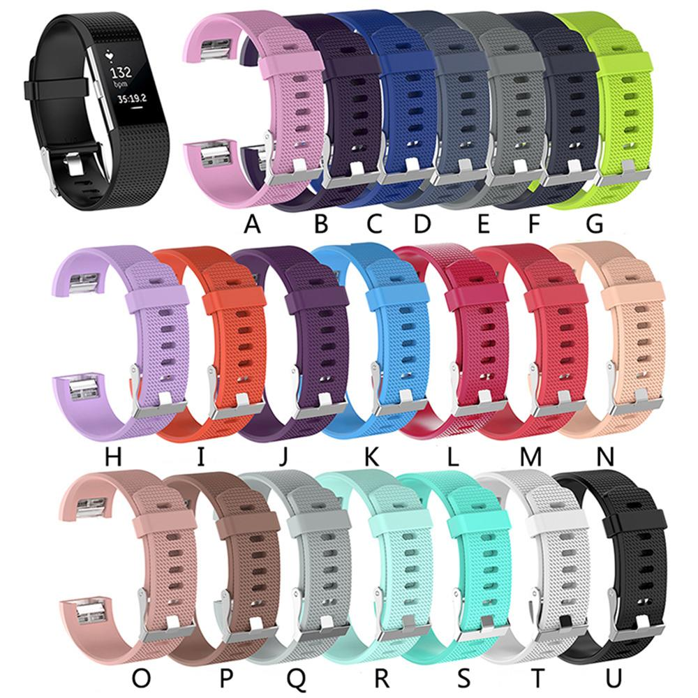 최저 가격 fitbit charge2 밴드 용 실리콘 스트랩 피트니스 스마트 팔찌 시계 Fitbit 충전 2 용 스포츠 스트랩 밴드 교체