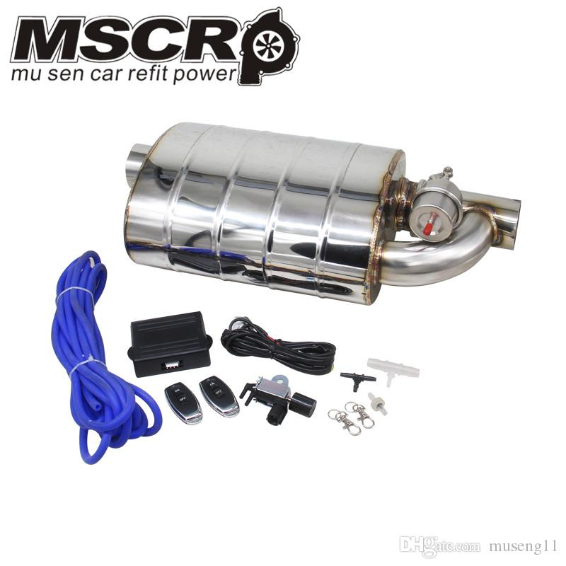 """Universal Chrome 2.5/"""" Inlet Muffler Dual Tip Exhaust Stainless Steel Single"""