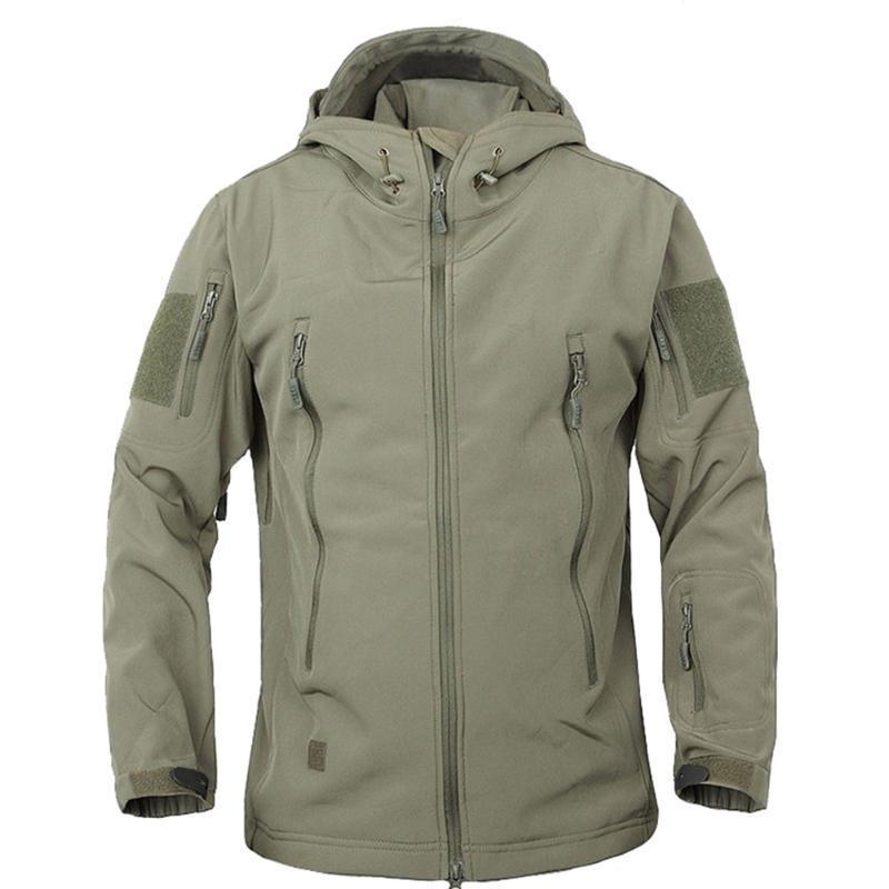 Открытый спорт Softshell куртки мужчины флис с капюшоном пальто камуфляж пальто для кемпинга пеший туризм альпинизм-MX8