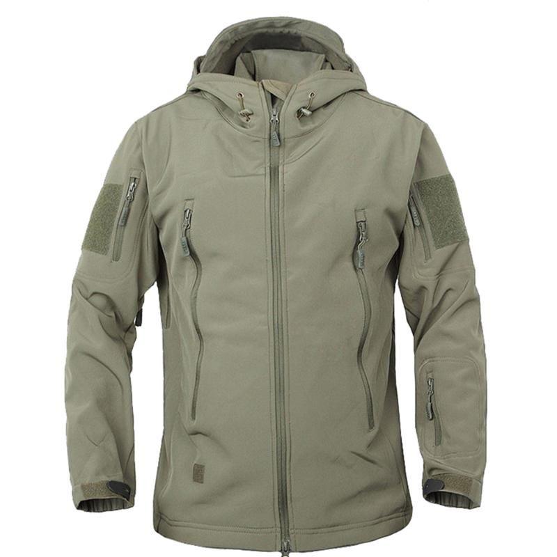Escudo del deporte al aire Softshell Chaquetas Hombres Fleece con capucha camuflaje Coats para que acampa yendo de Montaña Escalada -MX8
