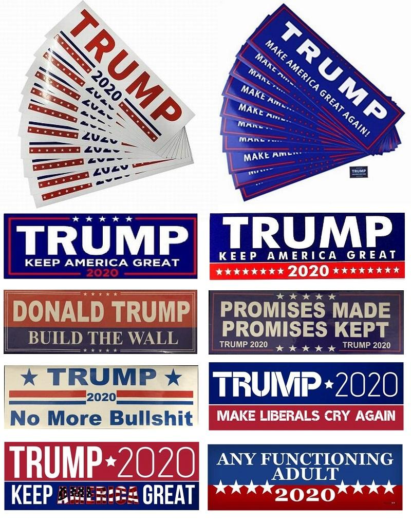 100Pcs Yeni Donald Trump Araç Karoseri Araç Paster için 2020 Araba Etiketler Tampon etiketi Tut Make Amerika Büyük Çıkartması