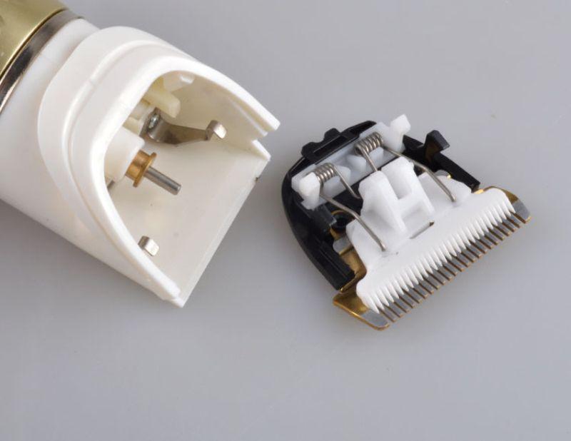Kemei 1817 Professional Hair Clipper Trimmer eléctrico de cabello para hombres pelo recargable condensadores de ajuste faciales para damas sweet07 pBSFb