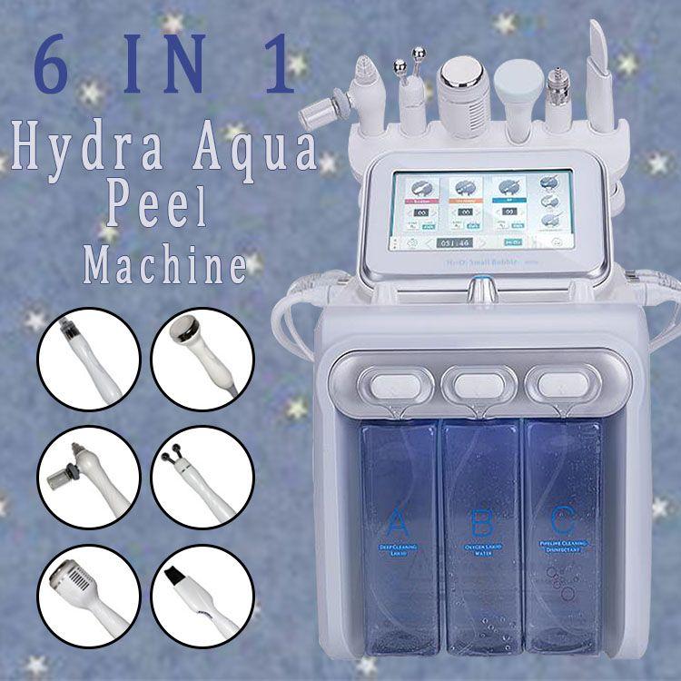 6 in1 H2-O2 Hydra Dermabrasion RF Bio-Lifting Spa Facial Hydro Microdermabrasion Gesichtsmaschine / Wasser Dermabrasion Cold Hammer Sauerstoffspray