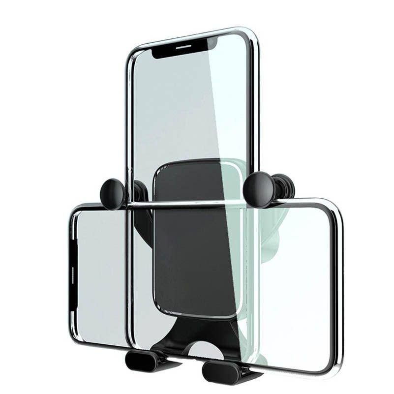 Universal Cellphone Stand Holder rotação de 360 graus de gravidade Air Vent Car Telefone Mount Suporte para IOS Android
