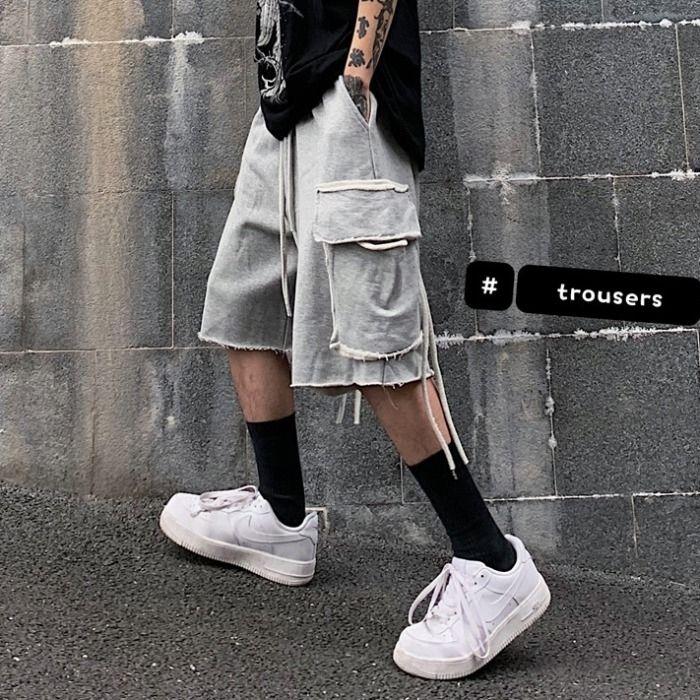 Privathinker 2020 Männer Hip Hop-Sommer-beiläufige Männer High Street Taschen Jogginghose männlichen koreanischen knielangen Shorts Kleidung T200430