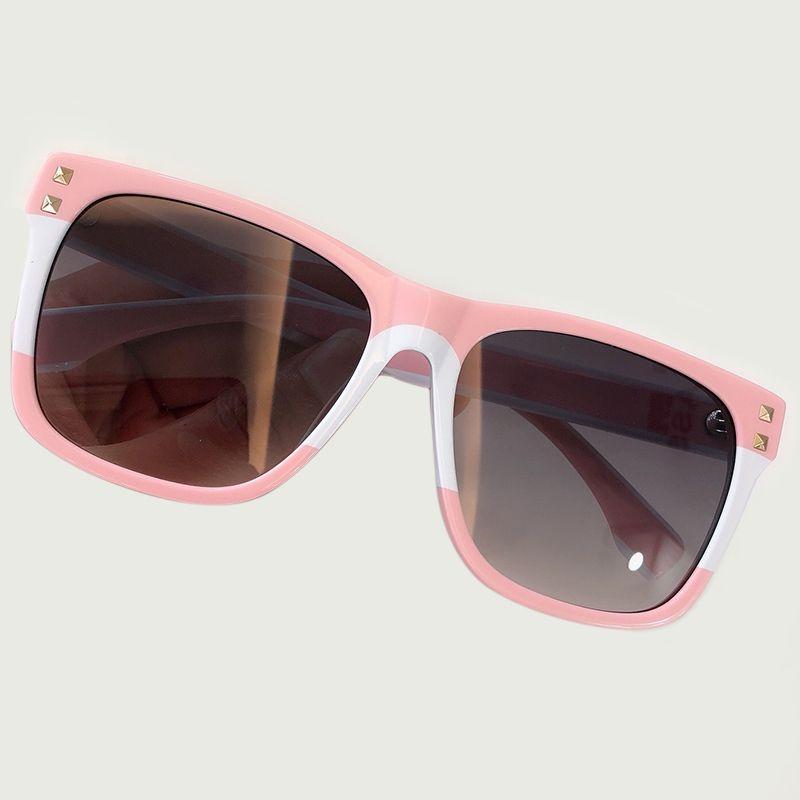 Alta Qualidade Mulheres Quadrados Óculos De Sol com Rebite Do Vintage Acetato Armação Óculos Polarizados Óculos De Sol Oculos De Sol Feminino