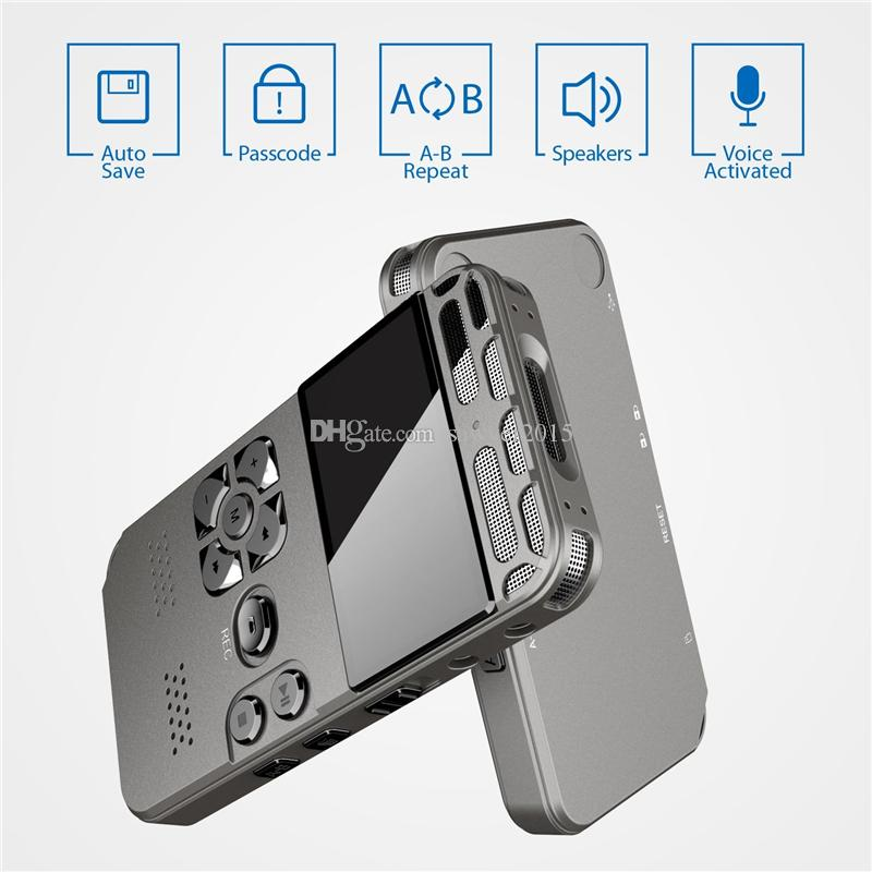 Professional HD Digital Voice Recorder One-pulsante Record rumore reducation dittafono USB ricaricabile 8GB 16GB 32GB di alta capacità Recorder