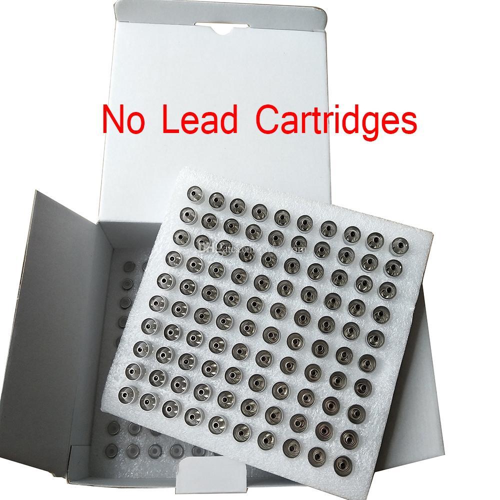 M6T eCig ceramica Coil rotonda Mouth Press Tip estratto di olio di Vape cartucce .5ml .8ml 1,0 ml 2,0 millimetri Fori monouso wickless atomizzatore
