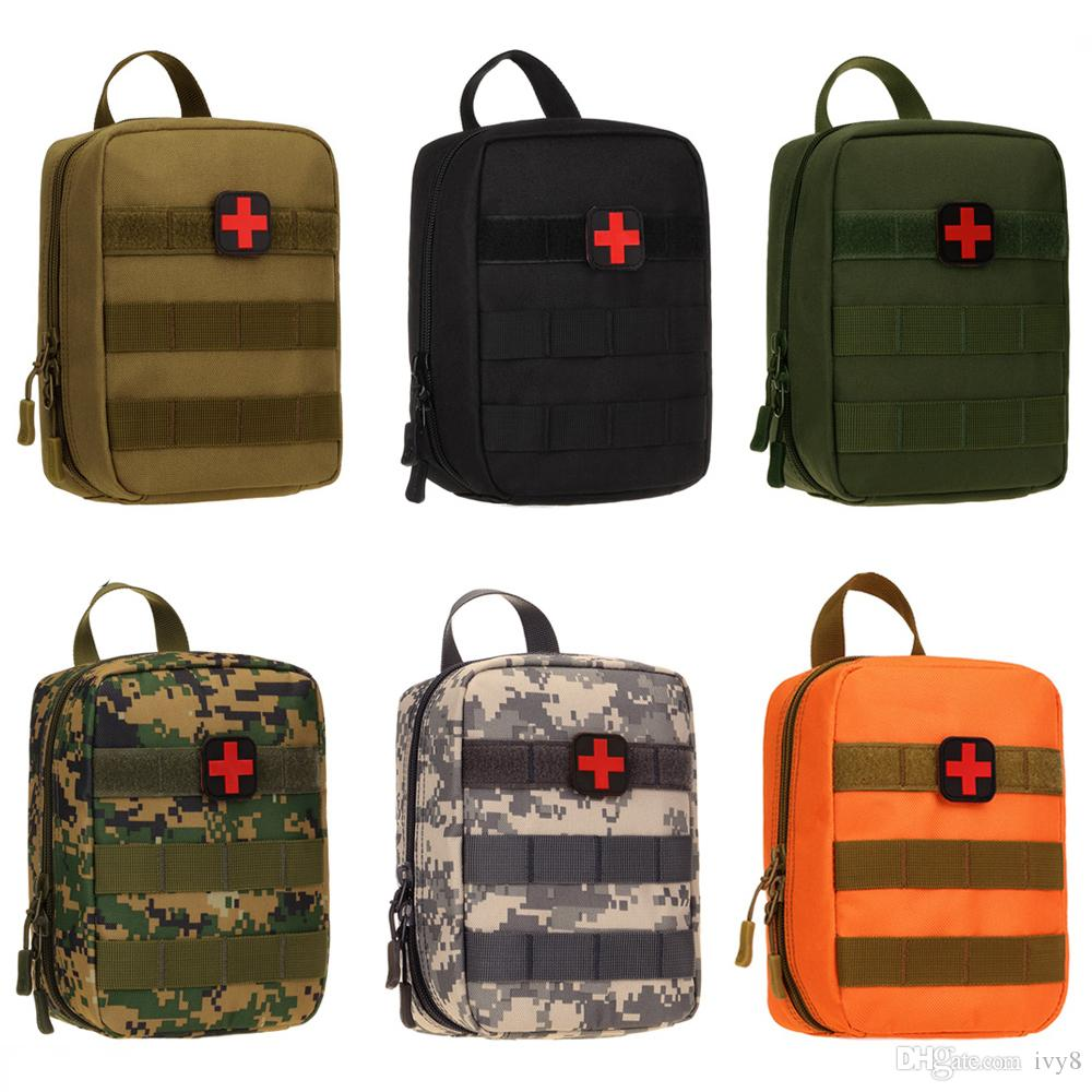 Outdoor Tactical Medical First Aid Kit Emergency Kits Bag Camouflage Waist Pack Hiking Climbing Camping Travel Tactical EDC Molle Pouch