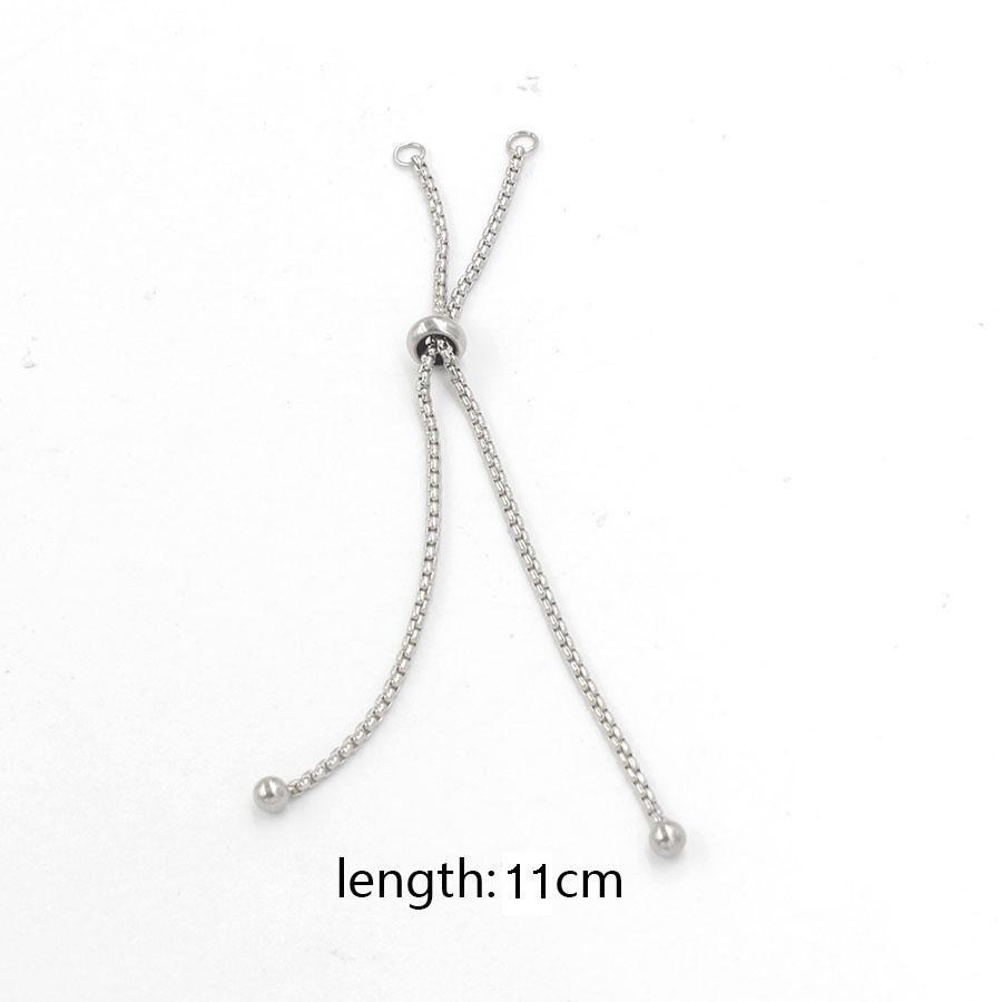 도매 스테인리스 상자 사슬 활주 또는 미끄러짐 증량 사슬 ForJewelry 목걸이 팔찌 강철 색깔 조정 가능한 11cm 50pcs / lot