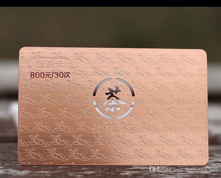 Großhandel Beidseitig Gebürstete Metallvisitenkarten Mit Farbigem Wortdruck Von Hellen8599 145 73 Auf De Dhgate Com Dhgate