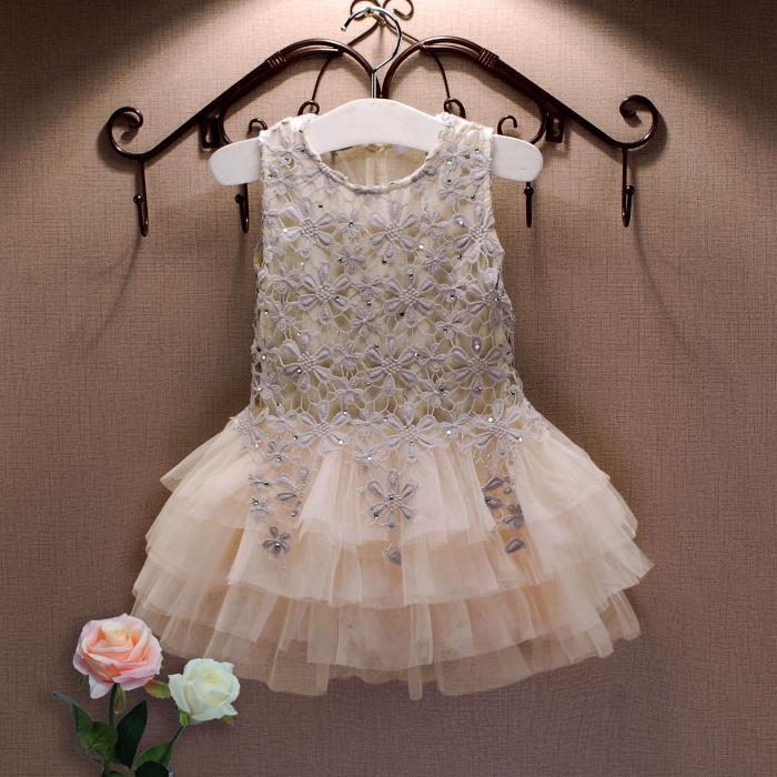 صيف جديد الرباط الصدرية فتاة فستان طفلة فستان الأميرة 3-7 العمر الأطفال ملابس الاطفال حزب حلي الكرة بثوب